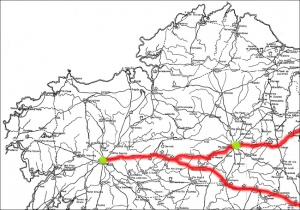 The roads of Medieval Galicia. Fighting against Carolingian script?