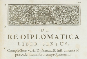 The birth of Diplomatics: from Mabillon to a new science