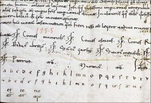 Visigothic script, Caroline minuscule and a bunch of polygraphic scribes